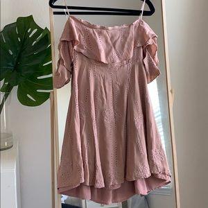 Dusty Rose ASTR Strapless Dress